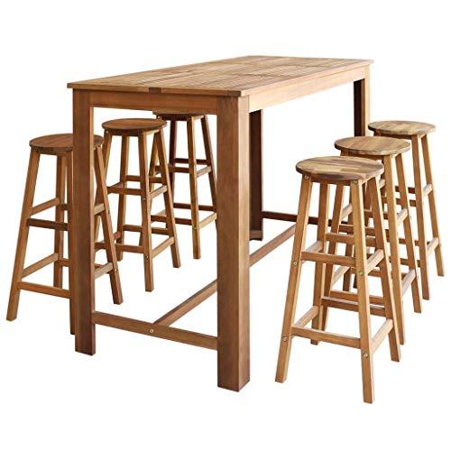 Mobilier de jardin Tables Festnight Table de Bar Bois ...