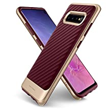 Spigen Coque Galaxy S10, Coque S10 [Neo Hybrid] Premium Bumper/Hard PC + Flexible TPU/Fine Double Protection/Anti-Choc Coque Compatible avec Samsung Galaxy S10 - [Burgundy]