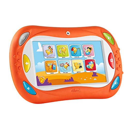 Chicco - Happy Tab Talent Edition, tablet para niños con bloqueo de perfiles