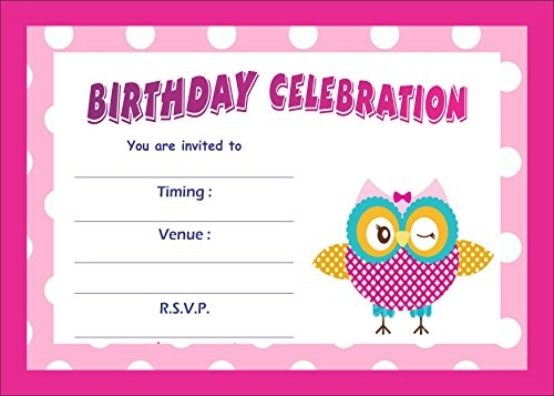 Birthday Metallic Card Invitations with Envelopes - Kids Birthday Party Invitations for Boys or Girls (25 Count) BIC-010