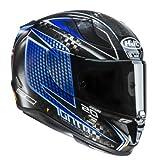 HJC Casque Moto RPHA 11 Carbon Jackson Storm Cars 3, Noir/Bleu, Taille S