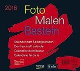 Foto-Malen-Basteln Bastelkalender quer schwarz 2018: Fotokalender zum Selbstgestalten....