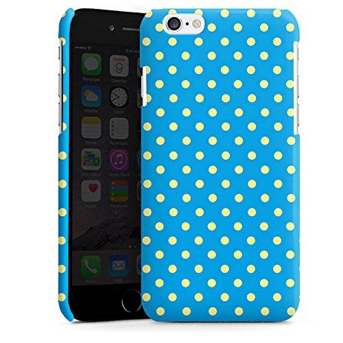 Apple iPhone 5s Housse Étui Protection Coque Petits points Bleu Bleu Cas Premium brillant