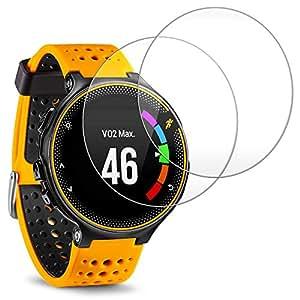 Proteggi Schermo per Garmin Forerunner 235 225 630 620 220 230, AFUNTA Antigraffio Pellicola Vetro Temperato Screen Protector per Smartwatch (2 Pack)