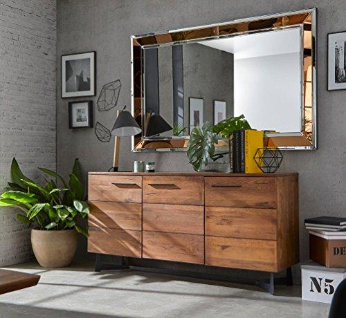 KS-Furniture WL5.604 Buffet en Bois Massif de Mangue 160 x ...