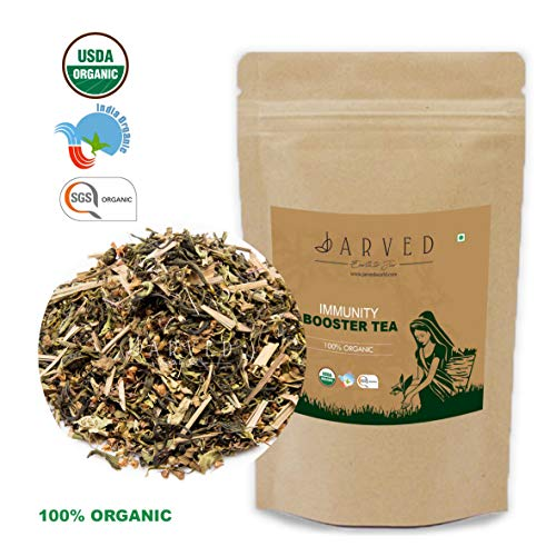 Jarved Immunity Booster Tea: Lemongrass, Tulsi and Green Tea.(50g, Makes 25 Cups) Special Introductory Price