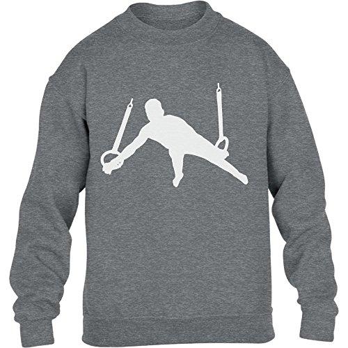 Männer Turner Silhuette Fanartikel Geschenk Kinder Pullover Sweatshirt S 122/128 Grau (Trikots Turner)