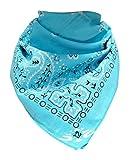 Doktor Hardstuff Trendy XL Bandana Paisley Babyblau