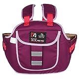 Larcele Kinder Motorrad Sicherheitsgurt Elektrisches Fahrzeug Sicherheitsausrüstung Nierengurte QXAQD-02 (Violett)