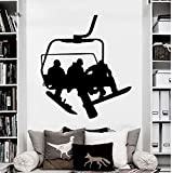 New Style Wall Decals Snowboard Sport Winter Snow Vinyl Sticker Decal Bedroom Sofa Background Art Decor Mural Wallpapers L 56x64cm