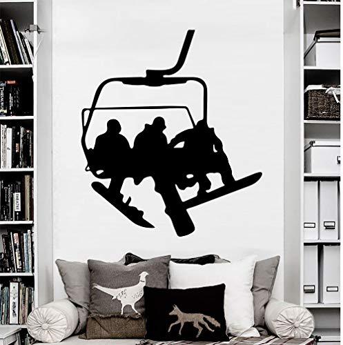 Stil wandtattoo Snowboard Sport Winter Schnee Vinyl Aufkleber Aufkleber Schlafzimmer Sofa Hintergrund Kunst Dekor Wandbild Tapeten 42 * 48 cm - Snowboard Kunst