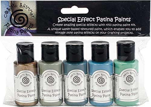 Cosmic Shimmer Patina Special Effects Paint Kit, Acryl, mehrfarbig, 15x 10x 3cm (Acryl Paint Kit)