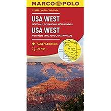MARCO POLO Kontinentalkarte USA West 1:2 000 000: Pazifikküste, Sierra Nevada, Rocky Mountains (MARCO POLO Kontinental /Länderkarten)