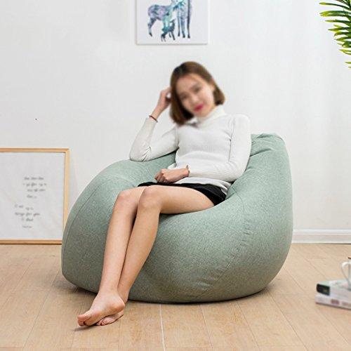 Bean Bag Lounger Canapé Chaise longue unique créative amovible et lavable petit appartement chambre à coucher (Couleur : Vert clair, taille : S)