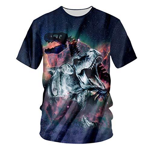 rier Herren Shirts 3D Plus Size T-rex Graphic T-Shirt für Herren - - 3X-Groß ()