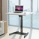 VBARV Stand up Elettrico da scrivania, Tavolo di Sollevamento per Laptop, Base ergonomica Regolabile in Altezza a Motore Singolo, con Controller di Memoria, per Soggiorno, Ufficio ECC.