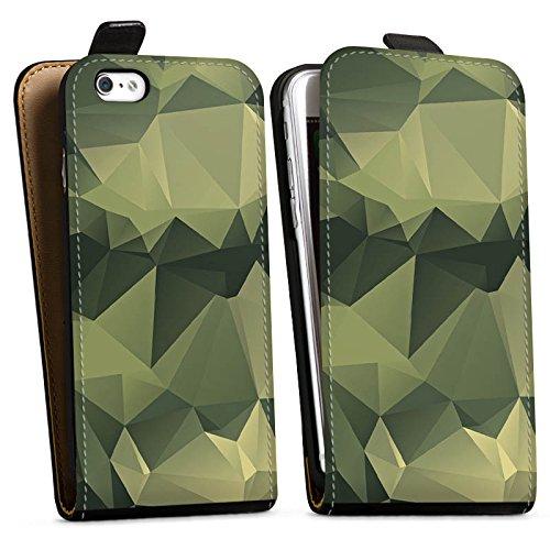 Apple iPhone 7 Plus Hülle Premium Case Cover Camouflage Muster Tarnfarben Downflip Tasche schwarz
