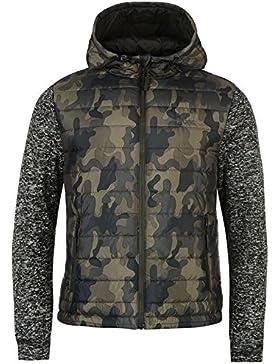 Lee Cooper Chaqueta Acolchada para hombre color caqui camuflaje de punto chaquetas abrigos Outerwear, caqui, small