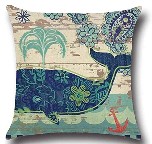 LULABE Animal Sea Turtle Wall Decorative Pillowcase Throw Pillow Cushion Cover Square Home Life ¡­ (13) for Couch Sofa Or Bed Set Cozy Home Decor Size:18 X 18 Inches/45cm x 45cm -