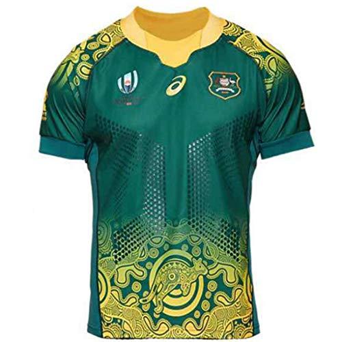 Liabb Japan WM Australien T-Shirt Polo Jersey Rugby Trikots Für Männer Rugby Fan T-Shirts Sommer Ärmellos Kurzarm,B,XL -