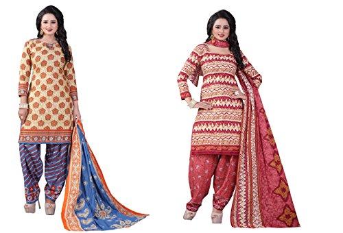 Crazy Women's Combo Pure Cotton Dress Material Salwar Kameez Unstitched