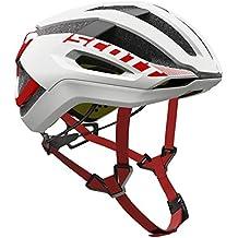 Scott bici Casco centric plus (ce) white/red l