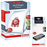 Miele Original C2 C3 Allergy EcoLine Cat & Dog FJM – HyClean Staubbeutel + sf-aa50 Active AirClean Filter