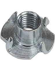 T-Tuerca acero galvanizado M 10 x 13 x 25 mm por presas de escalada elige tamaños, Cantidad:100 piezas