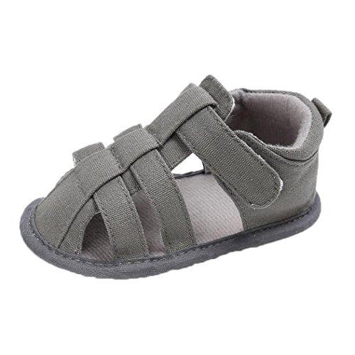 Mädchen Switchali Baby Jungen rutsch Sandalen Schuhe Weichen Schuhe Anti Casual Höhle Sneaker Grau 5T5qWtc6