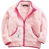 ZETADIKE Chaqueta de Forro Fleece de Invierno Otoño para Niñas Sudadera Chandal Topa Outdoor - Rosa Azul Gris
