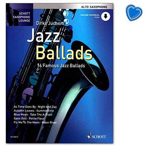 Jazz Ballads - 16 berühmte Jazz-Balladen von Dirko Juchem mit Online-Audio, Klaviersatz - Reihe: Schott Saxophone Lounge - AltSaxophon Noten mit Notenklammer