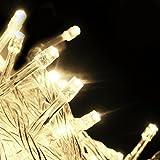 Cadena luminosa LED Salcar (10m) con 100 luces LED, Decoración para fiestas (blanco cálido)