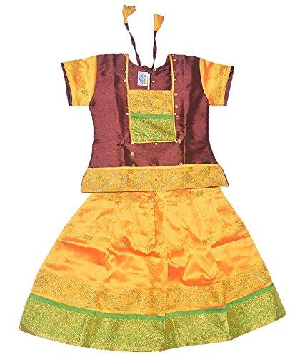 Mysilk Sarees Girls'S Silk Lehenga Choli (My-Tpmp001_Maroon_6-7 Years)B017BK6A5A