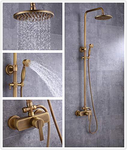 Sccot Duschsystem Messing Duscharmatur mit Rainshower Regendusche Handbrause Duschkopf Dusche...