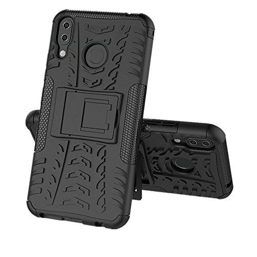 Für Asus ZenFone 5/5Z (ZE620KL) Hülle, Colorful Rugged Armor Defender Ständer Handyhülle Schutzhülle TPU Case für Asus ZenFone 5/5Z (ZE620KL),Schwarz