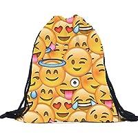 6d52169769 Oyedens Zaino da viaggio con motivo di simpatici emoji 3D, design unisex,  leggero,