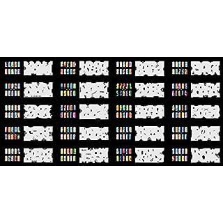ABEST verkauf Wiederverwendbarer Airbrush DESIGNS der Nail-Art Schablone 320 - 20 Blätter Kit Vorlagensatz 7