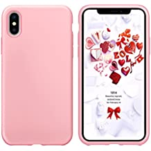 custodia iphone x silicone rosa