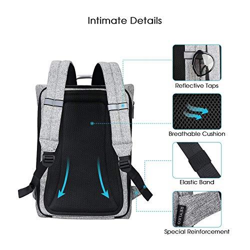 f211816de30a8 Rucksack Damen Rucksack Herren Tagesrucksack Damen REYLEO für Laptop bis zu 15