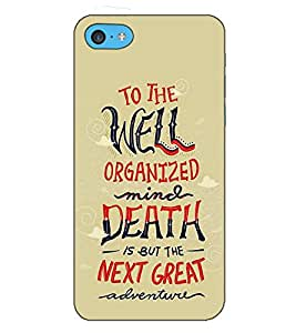 Fuson Designer Back Case Cover for Apple iPhone 5c (To The Well Organized Theme)