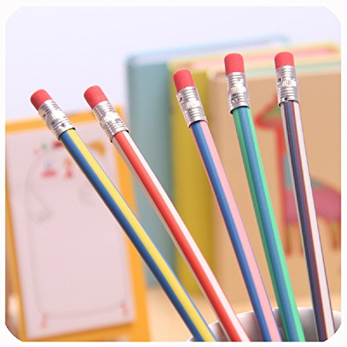 JUYUAN 10 Stueck,eich, flexibel, biegsam Magic Bleistifte, gebogen Colorful Magic flexibel biegsam...