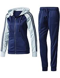 adidas Re-Focus Ts Chándal Mujer, Azul (Maruni/Vertac), XS