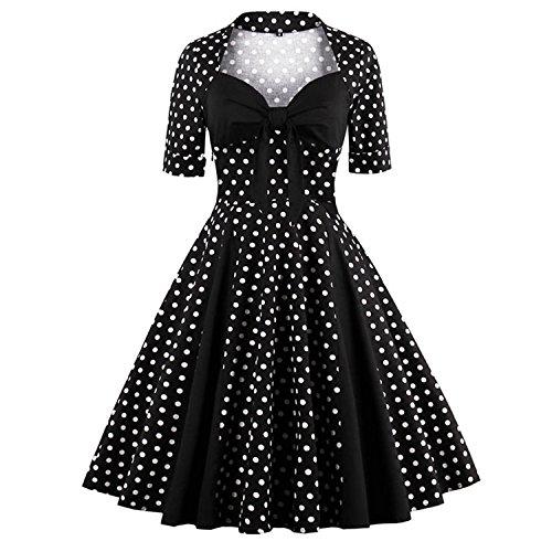 kimring-womens-vintage-retro-bowknot-polka-dot-cocktail-party-swing-dress-black-xxxx-large