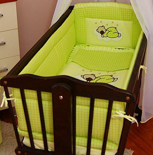 6-teiliges Bettwäsche-Set für Babybettchen/Bumper alle 260cm rund/Laken/Decke/zu (Laken-bettwäsche-set)