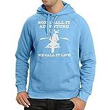 lepni.me N4689H Kapuzenpullover We Call it Life! Motorcycle Clothing (Large Blau Mehrfarben)