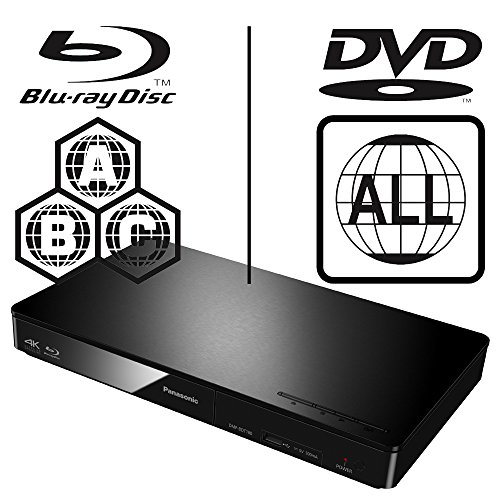 Panasonic DMP-BDT170EB Smart 3D 4K Upscaling ICOS Multi Region All Zone Code Free Blu-ray Player. Blu-ray regions A, B…