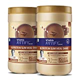Saffola FITTIFY Hi Protein Slim Meal-Shake, Meal Replacement with 5 superfoods, Swiss Chocolate
