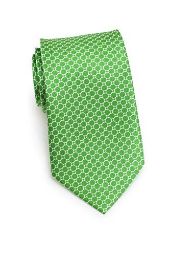 CANTUCCI Design-Krawatte Herren, 100% Seide, Gitter-Muster, 11 verschiedenen Farben, 8,5 cm, Handarbeit, Hochzeit - Business - Alltag (Apfelgrün) (Seide Hemden Aus Italienische)