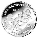 TGBCH die Schlümpfe 60 Jahre Belgien 5 Euro Silber Beweis Münze Mni