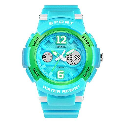 Geführte Mode Uhr Frauen Multifunktions Digital Sport Mode Aqua Uhren